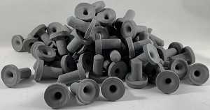 100 Black Colored Ceramic Acro Frag Plugs