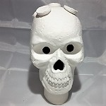 Ceramic Skull Frag Holder w/ 7 Plugs